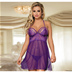 Women Babydoll Lingerie Set Plus Size Lace Sleepwear Chemise